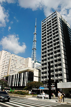 Sao Paulo, Brazil, condos and offices along Avenida Paulista