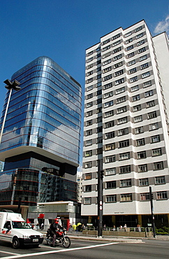 Sao Paulo, Brazil, condos and offices along Avenida Paulista