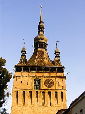 Europe, Romania, Transylvania, Sighisoara, Watch Tower.