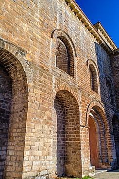 San Pedro de Siresa Monastery, Siresa, village, Hecho Valley, Huesca Pyrenees, Aragob, Spain.