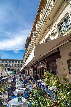 Tarrace of Aragon Bar at Fueros Square of Tudela, Navarre.