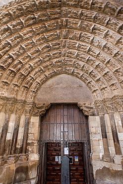 Door of the Judgement. Santa Maria Cathedral of Tudela, Navarre, Spain.