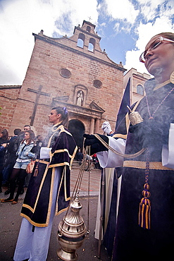 Censer of silver or alpaca to burn incense in the holy week, Spain.