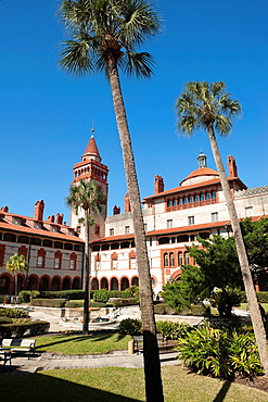 Courtyard Ponce De Leon Hotel Building Flager College Saint Augustine Florida.