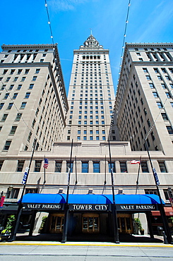 South Entrance Tower City Center Downtown Cleveland Cuyahoga County Ohio USA.