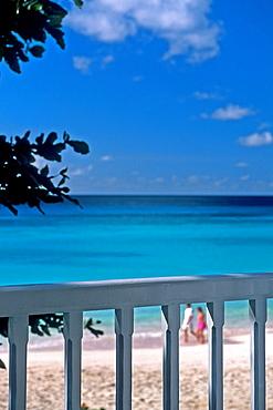 Barbados, Balcony View, Beach, Caribbean Sea.