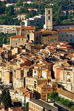 Grasse, Center of Grasse, Church, Village, Village of handmade Perfume, Provence, France.