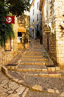 Lane, Saint Paul, Stairway, Souvenir Shops, Provence, France.