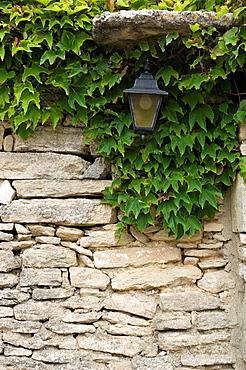Lantern, Gordes, Stone Wall, Provence, France.