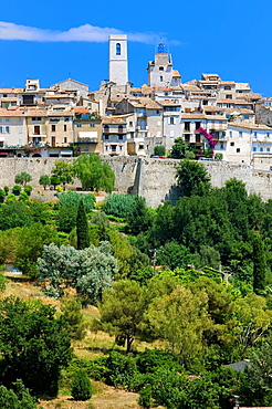 Saint Paul, St. Paul de Vence, Alpes Maritimes, Bell Tower, Medieval Hilltop Village, Provence, France.