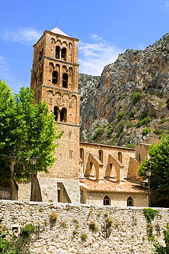 Moustier Ste-Marie, Church, Bell Tower, Provence, France