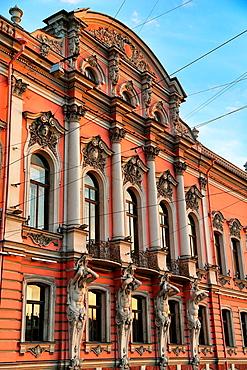 Beloselski-Belozerski palace, home to the city's Municipal Cultural Center, Saint-Petersburg, Russian Federation