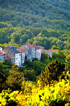 Village in the mountain zone of Corsica, France.