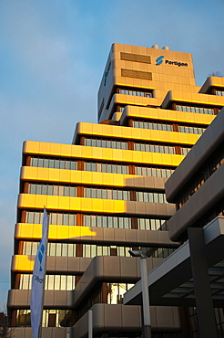 Office block housing Portigo and other companies and offices Friedrichstadt district DusseldorfGermany Europe.