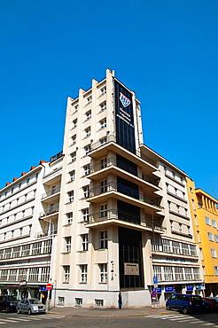 Hasicsk˝ dum 1928 by Frantisek Kavalir a Functionalist style building Vinohrady district Prague city Czech Republic Europe