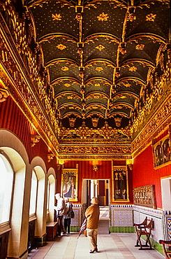 Sala del Cordon, in Alcazar, Segovia, Castilla-Leon, Spain.