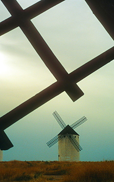 Windmills, Campo de Criptana, Ciudad Real province, Castilla-La Mancha,the route of Don Quixote, Spain.