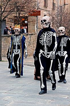 Skeletons Performance, Easter Week, Manresa, Catalonia, Spain.