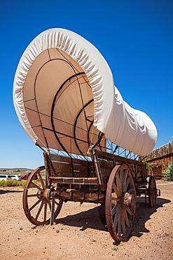 Old prairie covered wagon, VIrgin, Utah.