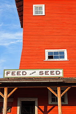 Feed and Seed building at 1880 Town in South Dakota.