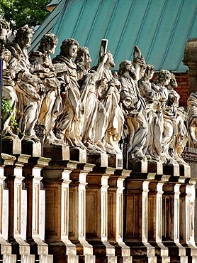 Twelve Apostles of St Peter and Paul Church at Grodzka street, Krakow, Poland.