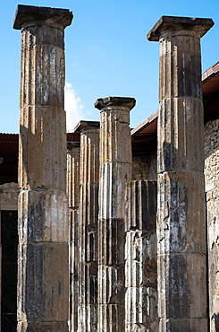 Group of Pillars in Pompeii, Campania, Italy.