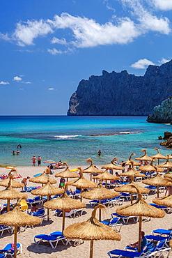Spain, Mallorca Island, Cala San Vicente, Formentor Cliffs.