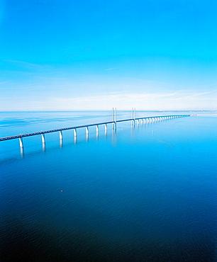 Oresund Bridge from Denmark to Sweden, Europe