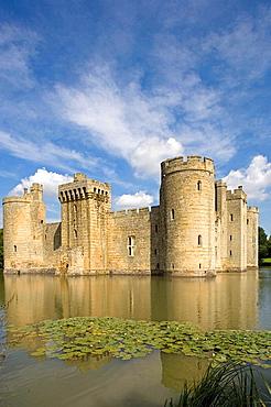 Bodiam Castle, 1385-1388, Rother river, Kent, UK