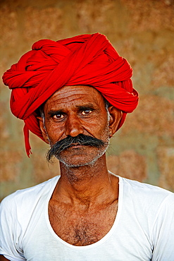 India, Rajasthan, Meda village around Jodhpur, Rabari ethnic group, Saludharam 44 old.