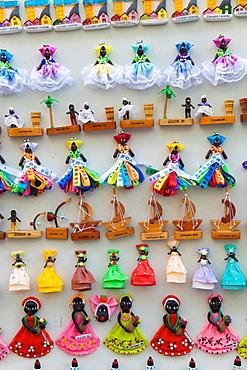 Souvenirs, Pelourinho, Salvador, Bahia, Brazil.