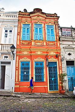 Rua do Carmo Street, Pelourinho, Salvador, Bahia, Brazil.