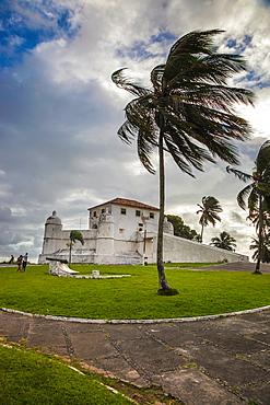 Fort of Monte Serrat, Fortim de Sao Filipe, Baia de Todos os Santos, Salvador, Bahia, Brazil