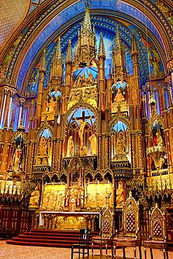 Canada , Quebec Province , Montreal City , Notre Dame Basilica , Interior.
