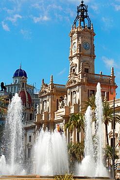 Ayuntamiento. City hall. Valencia. Comunidad Valenciana. Spain.