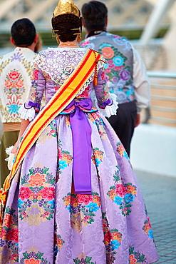 Fallera. Valencia. Comunidad Valenciana. Spain.