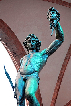 Italy, Tuscany, Florence, Loggia Della Signoria, Perseus