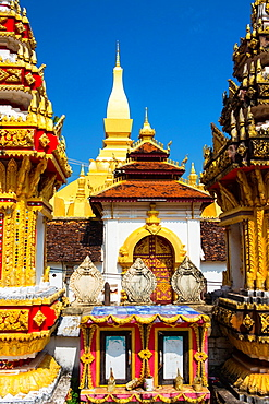 Pha That Luang Temple in Vientaine, Laos.