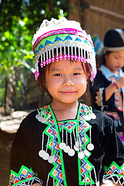 Young girl from the Hmong hilltribe near Luang Prabang, Laos.