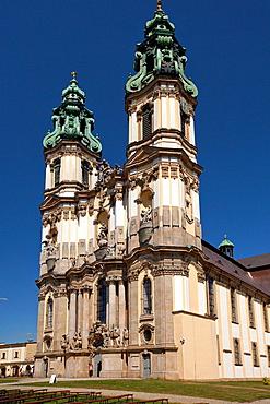 Krzeszow Abbey in german Grussau Abbey. Lower Silesia. Poland. Former Cisterian Monastery. Assumption of Mary Abbey Church.