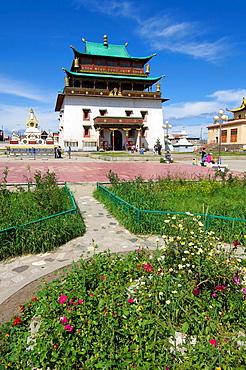 Bodhisattva Chenrezig Temple in Gandantegchenling Monastery, Ulan Bator, Mongolia.