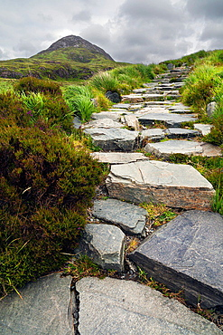 Diamond hill road in Connemara National Park. Ireland.