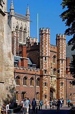 Cambridge, St John's College, Cambridgeshire, England.