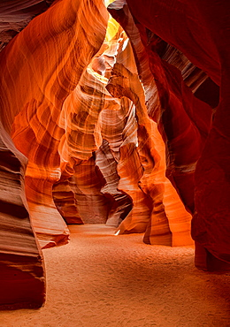 beautiful colors and formations in Upper Antelope Canyon, Page, Arizona.