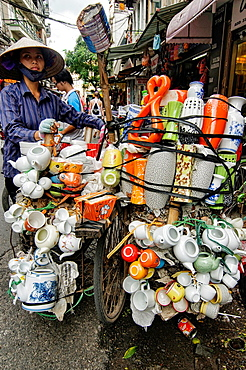 the whole kitchen sink bicycle vendor in Hanoi, Vietnam.