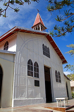 The church of Santa Barbara in Santa Rosalia, Baja California is made of metal and is believed was designed by Gustave Eiffel.