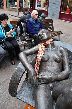 Bologna, Italy, sculpture in via IV Novembre