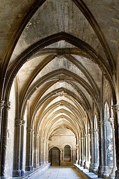 Cloister of Saint Trophimus cathedral 12th century, monument declarated World Heritage by UNESCO. Arles, Bouches-du-Rhone department, in Provence-Alpes-Cote d'Azur, France.