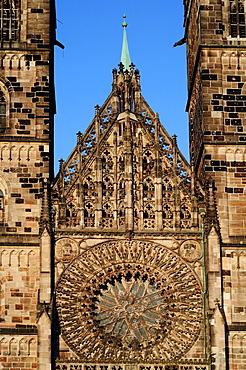 Germany, Bavaria, Nuremberg, St Lorenz Church.