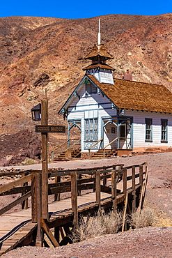 The Old School House in Calico Ghost Town, California, USA